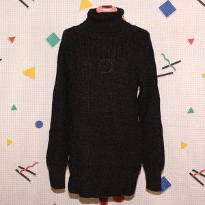 Cloth long black/dark gray turtleneck